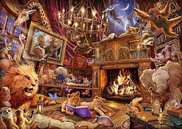 Пъзел Schmidt от 1000 части - Любопитните животни, Стив Съндрам