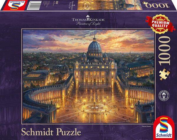 Пъзел Schmidt от 1000 части - Залез над Ватикана, Томас Кинкейд