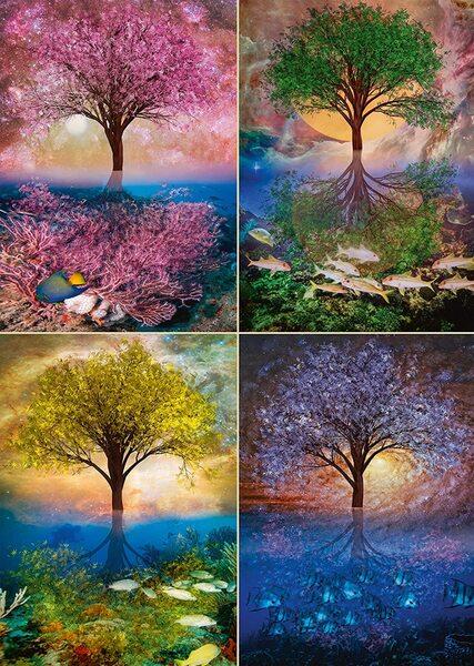 Пъзел Schmidt от 1000 части - Вълшебното дърво край езерото