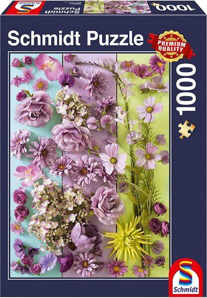 Пъзел Schmidt от 1000 части - Виолетови цветчета
