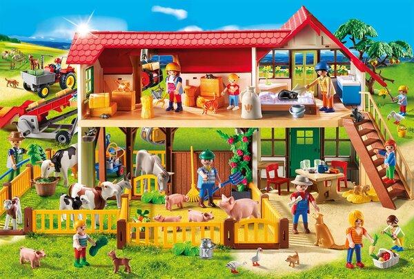 Пъзел Schmidt от 100 части - Ферма, с фигурка Playmobil