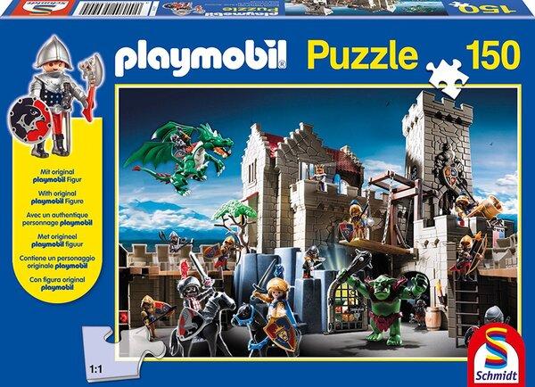 Пъзел Schmidt от 150 части - Кралско съкровище, с фигурка Playmobil
