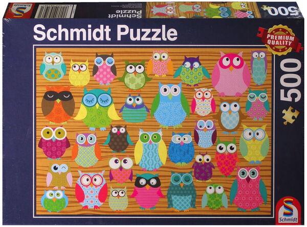 Пъзел Schmidt от 500 части - Бухали