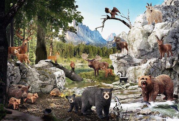 Пъзел Schmidt от 40 части - Животните в гората, с 2 фигурки