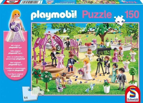 Пъзел Schmidt от 150 части - Сватбена церемония, с фигурка Playmobil
