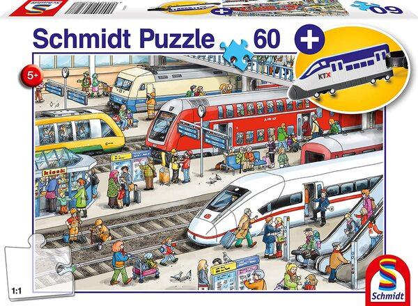 Пъзел Schmidt от 60 части - На жп гарата, с аксесоар за багаж