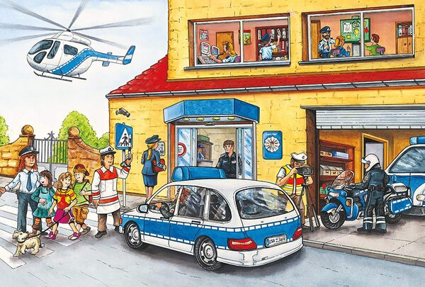 Пъзел Schmidt от 60 части - Полицейски хеликоптер, с фигурка Siku
