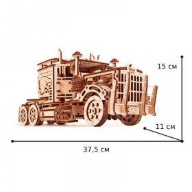 3D пъзел Вятърна Мелница 39см, 76 части, дървен конструктор с подвижни елементи