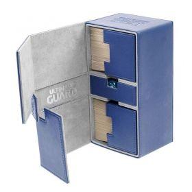 ULTIMATE GUARD КУТИЯ ЗА КАРТИ - ULTIMATE GUARD TWIN FLIP'n'TRAY XENOSKIN (за LCG, TCG и др) 200+ - СИНЯ