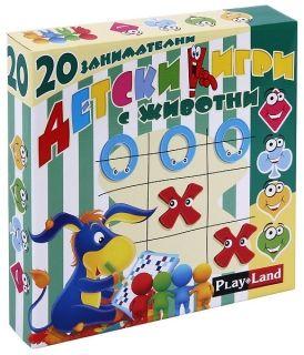 Настолна игра PlayLand - 20 занимателни детски игри с животни
