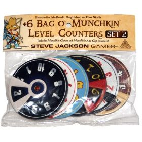 + 6 BAG O' MUNCHKIN LEVEL COUNTERS - SET 2