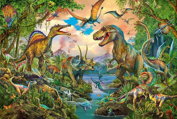 Пъзел Schmidt от 150 части - Динозаври, с татуировки