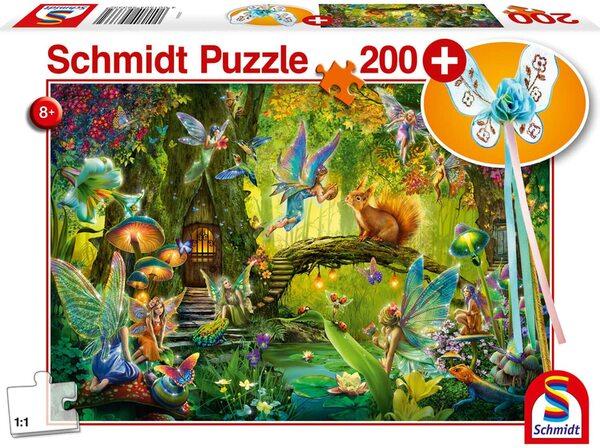 Пъзел Schmidt от 200 части - Феи в гората, с магическа пръчица