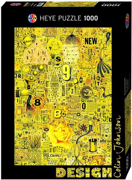 Пъзел Heye от 1000 части - Жълта роза, Колин Джонсън