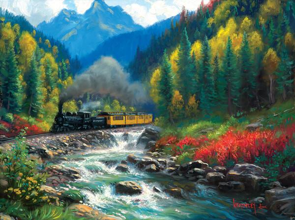 Пъзел SunsOut от 1000 части - Влакът Дуранго-Силвъртън, Марк Кийтли