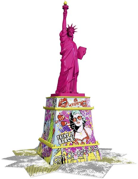 3D Пъзел Ravensburger от 108 части - Статуята на Свободата, Попарт