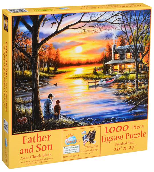 Пъзел SunsOut от 1000 части - Баща и син, Чък Блек