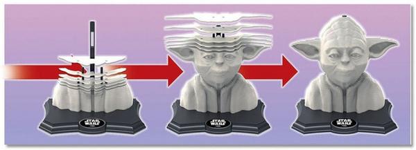 3D пъзел Educa - Йода, 160 части, с бои и четка