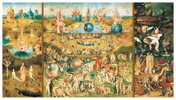 Пъзел 9000 части Educa - Градината на земните удоволствия, Йеронимус Бош