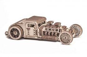 Механичен 3D пъзел Wood Trick - Хот Род, 280 части