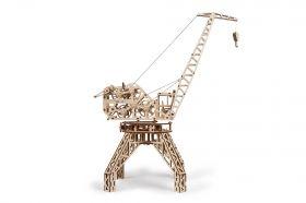 Механичен 3D пъзел Wood Trick - Кран, 288 части