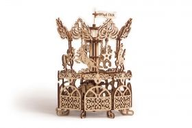 Механичен 3D пъзел Wood Trick - Въртележка, 179 части