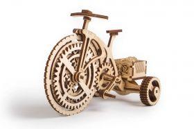 Механичен 3D пъзел Wood Trick - Колело, 89 части