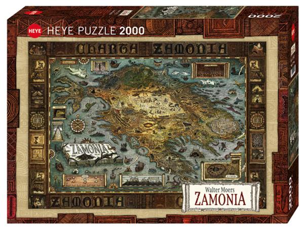 Пъзел Heye от 2000 части - Карта на Замония