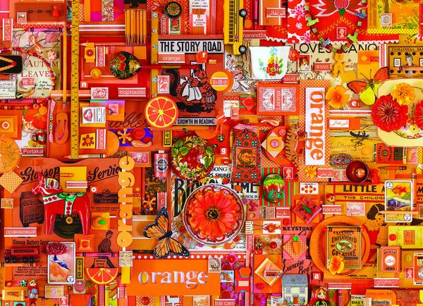Пъзел Cobble Hill от 1000 части - Оранжево, Шели Дейвис
