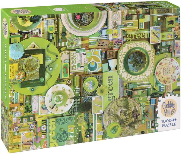 Пъзел Cobble Hill от 1000 части - Зелено, Шели Дейвис