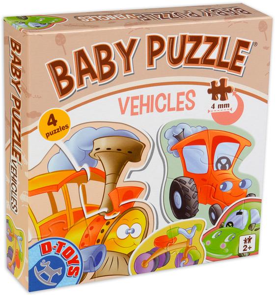 Бебешки пъзел D-Toys 6 в 1 - Превозни средства
