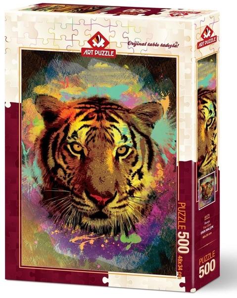Пъзел Art Puzzle от 500 части - Тигър, Ерен Малчок