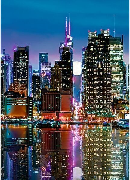 Пъзел Trefl от 500 части - Пълнолуние над Манхатън