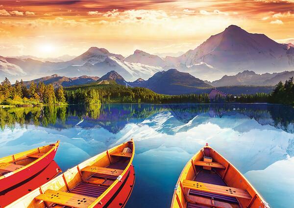 Пъзел Trefl от 2000 части - Кристално езеро