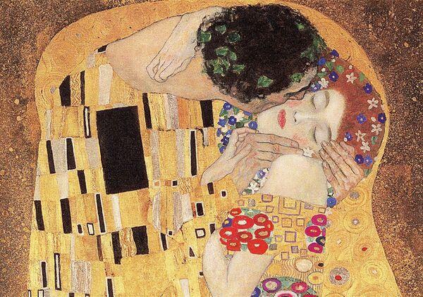 Пъзел Trefl от 1000 части - Целувката, Густав Климт