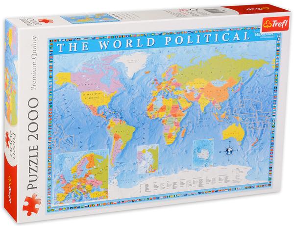 Пъзел Trefl от 2000 части - Политическа карта на света