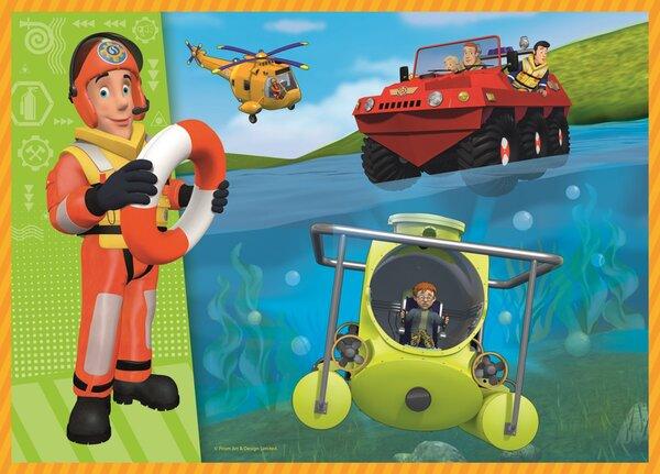 Пъзел Trefl 4 в 1 - Пожарникарят Сам на помощ