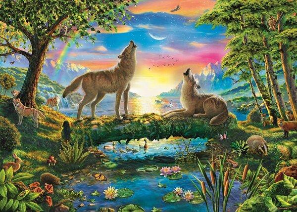 Пъзел Trefl от 500 части - Вълча природа, Ейдриън Честерман