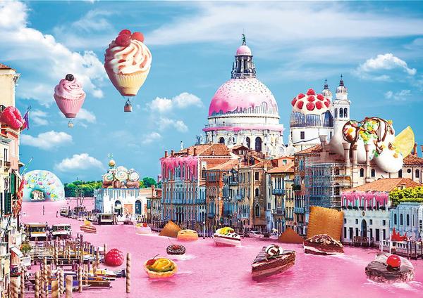 Пъзел Trefl от 1000 части - Сладкиши във Венеция