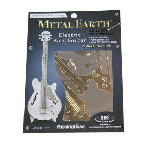 Метален 3D пъзел Metal Earth - Електрическа бас китара