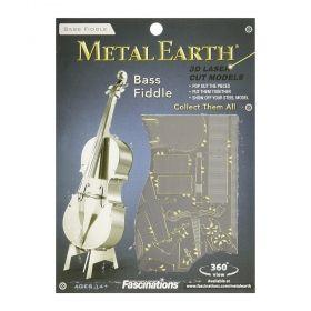 Метален 3D пъзел Metal Earth - Контрабас