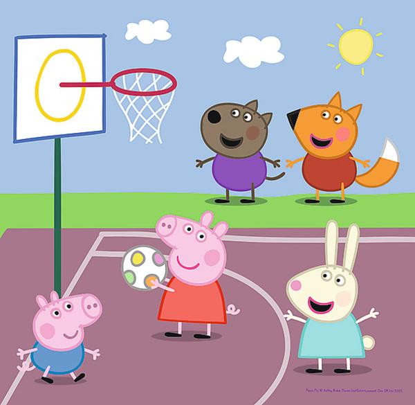 Пъзел Trefl 3 в 1 - Pepa Pig, Игра в училище