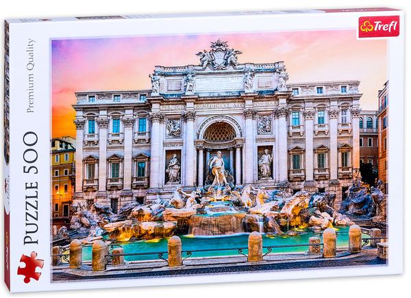 Пъзел Trefl от 500 части - Фонтан ди Треви, Рим