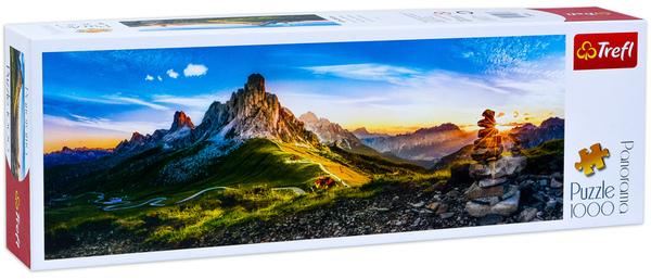 Панорамен пъзел Trefl от 1000 части - Проход Гиау, Доломити