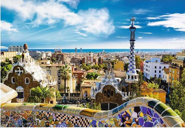 Пъзел Trefl от 1500 части - Парк Гюел, Барселона
