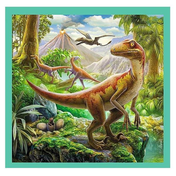 Пъзел Trefl 3 в 1 - Динозавърски свят