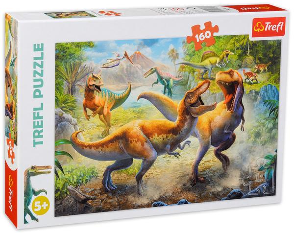 Пъзел Trefl от 160 части - Борбата с тиранозаврите