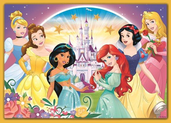 Пъзел Trefl 4 в 1 - Щастливият ден на принцесите на Дисни