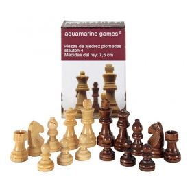 Дървени фигурки за шах – Стаунтон 4 с утежнения