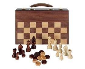 Настолна игра : Комплект шах, дама и табла